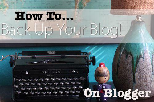 how to backup blogger blog