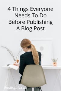 Four things to think about before you hit publish on the next blog post you are writing. Make readers notice your great content, not your glaring mistakes.