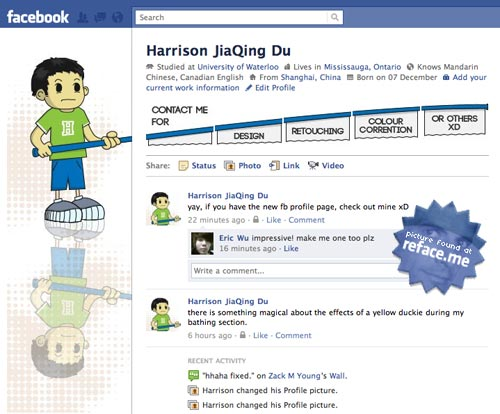 Facebook fan page update