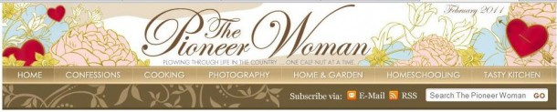 Pioneer Woman Blog Header
