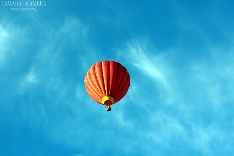 Hot air balloon in the sky | High Contrast Photography TIps