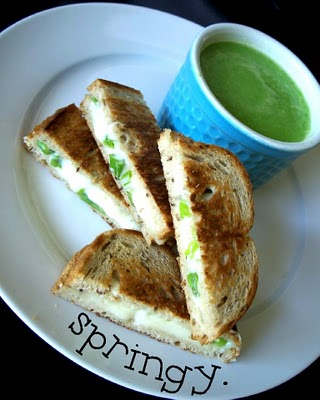 Spring Pea Soup | Grilled Cheese Recipes | Simple Recipes