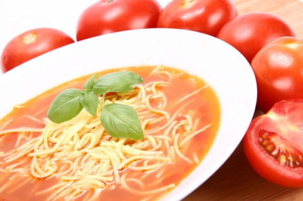 Chicken Macaroni Soup With Tomatoes Recipe — Dishmaps