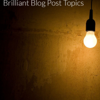 Writing Tip: Learn how to brainstorm so you will never be without writing inspiration or blog post ideas.