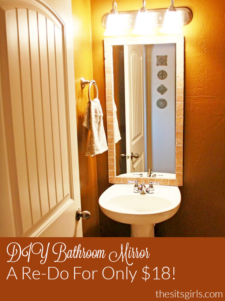 This Diy Bathroom Mirror Redo Is Easy And It Only Costs 18