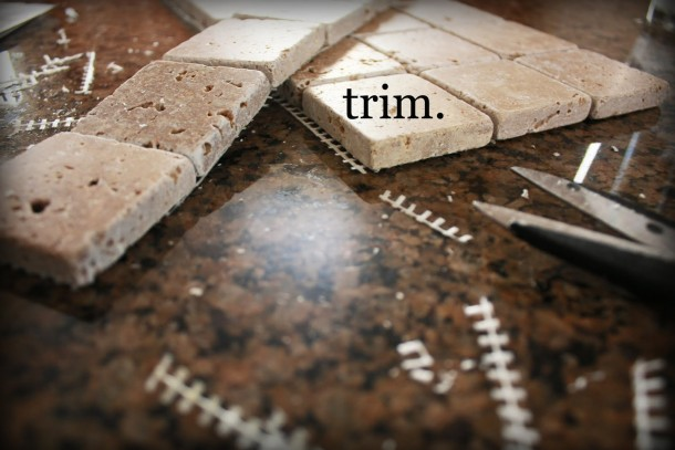 trim marble tile sheets to separate all tiles