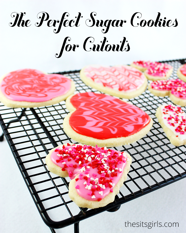 These cookies look fancy, but they are really simple to make when you use the recipe for the perfect sugar cookies for cutouts.