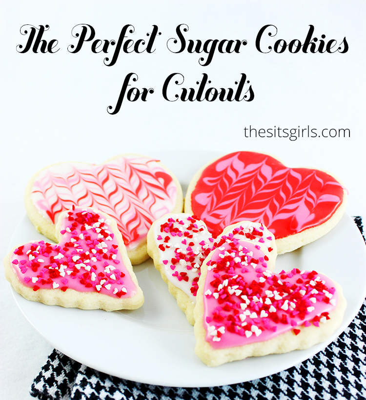 This sugar cookie recipe is perfect for making cutouts and cookies that are easy to decorate. Bonus: marbleized frosting technique included.
