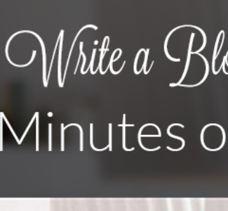 Learn how to write a blog post in 15 minutes.