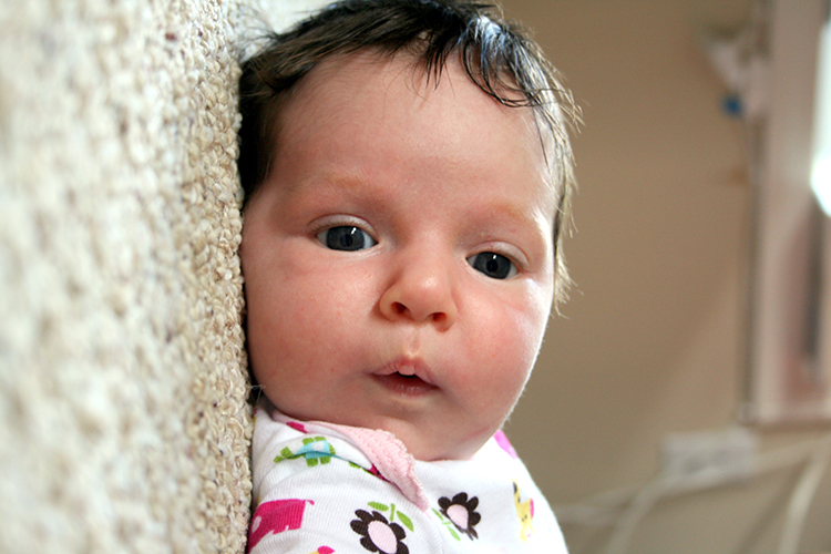 Quick snapshot of a cute baby - you don't have to have a professional camera to take great pictures.