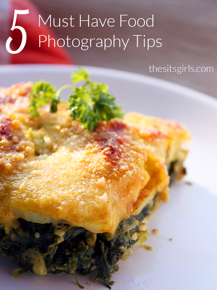 Photography Tips: These five tips will help you take your food photography to the next level, which is especially important for bloggers who want to share recipes.
