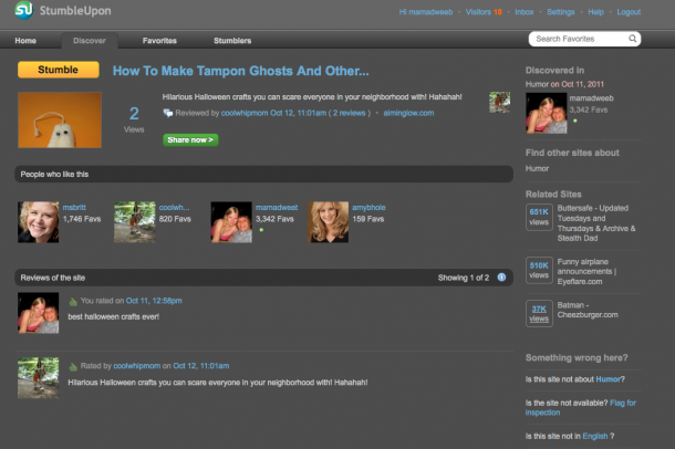 how to get visitors with stumbleupon