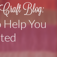 Seven steps that will help you become a master craft and DIY blogger.