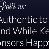 how to write a sponsored post that is makes you and your readers happy