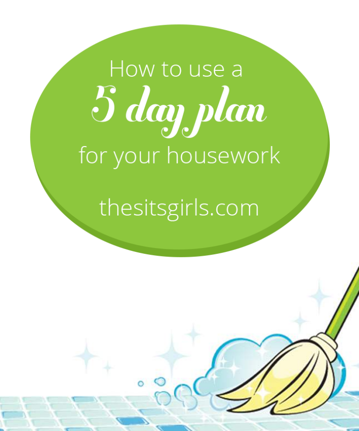 Get your house cleaned and your schedule organized with this simple 5-day plan for house cleaning | Organize Your Life