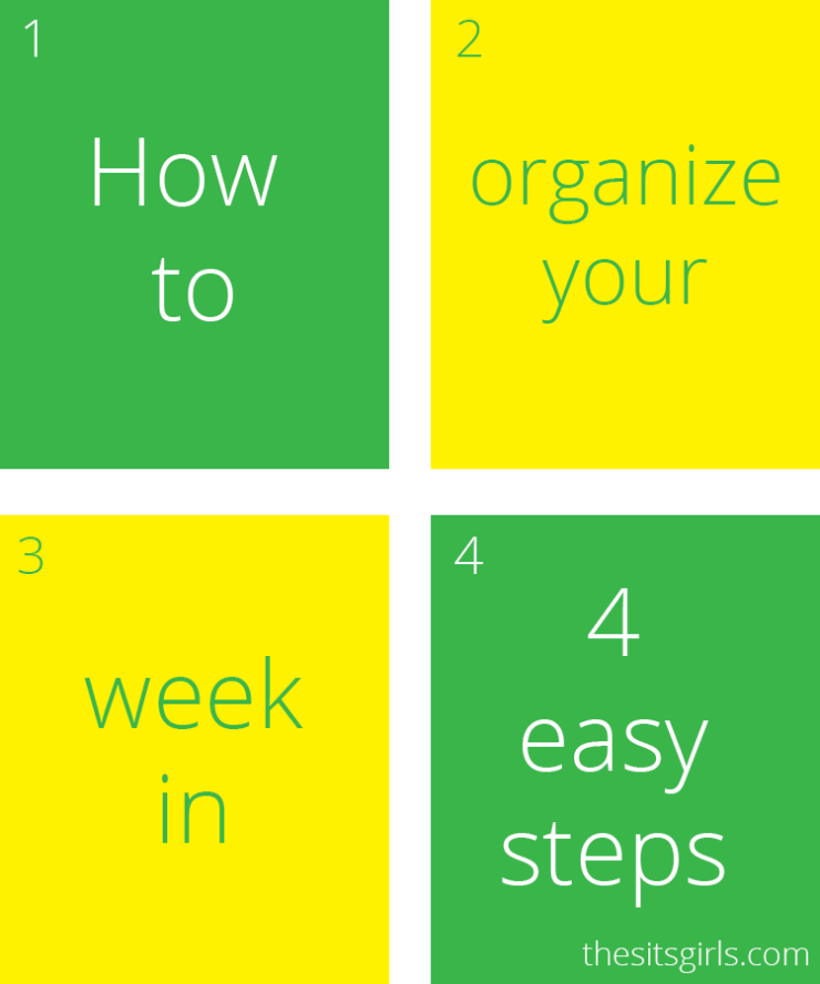 This easy, four-step plan is the answer to organizing your schedule and your life. Get organized today!