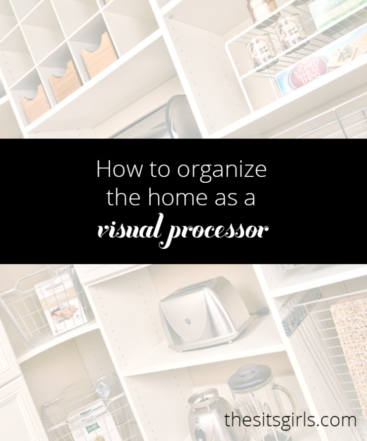 Wondering how to organize your house? These tips will help! Visual processors work best in specific environments. Applying these principles to your house and your organization techniques will help you to create a space that is perfect for you.