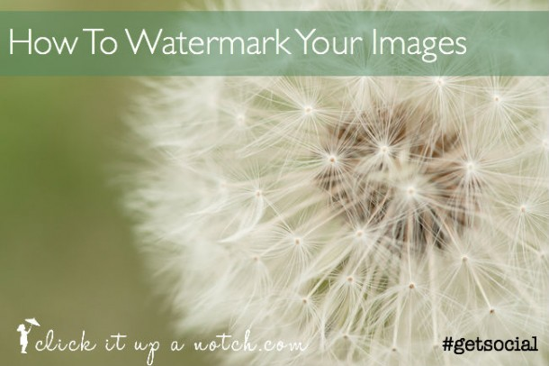 how to watermark images