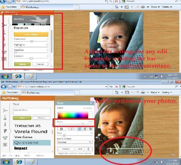 PicMonkey Watermarking