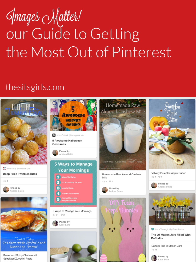 Pinterest is a visually based platform and your images can make or break your success on Pinterest. Make the most out of Pinterest by creating images that people want to pin and click on.