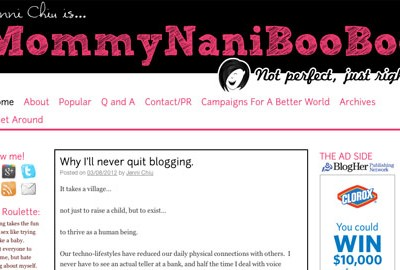 Blog Critique: Mommy Nani Booboo