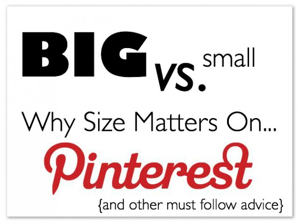 how to use pinterest big vs small images