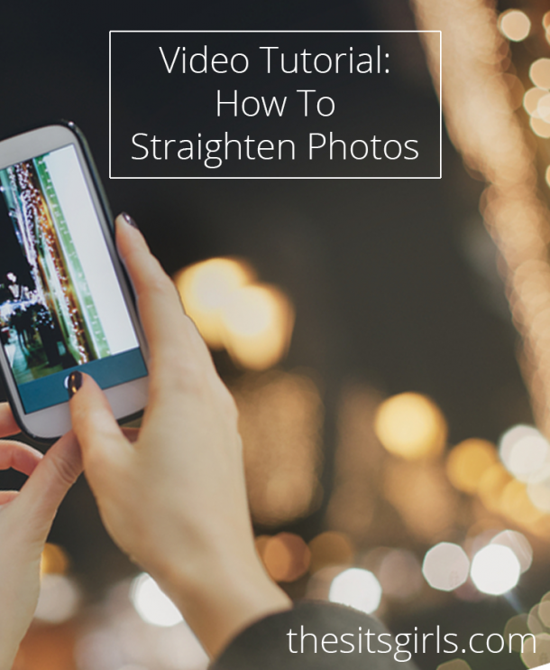 Photography Tip: Straightening a photo can take a picture that is so-so and make it fabulous. Learn how to make this simple change with a quick and easy photo editing tutorial.
