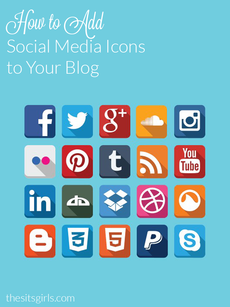Having social media icons prominently displayed on your blog makes it easy for your readers to follow you. Learn how to  add social media icons to your blog.