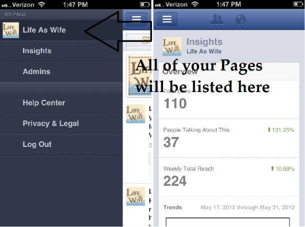 Facebook App for iPhone | Managing Facebook Page with Iphone