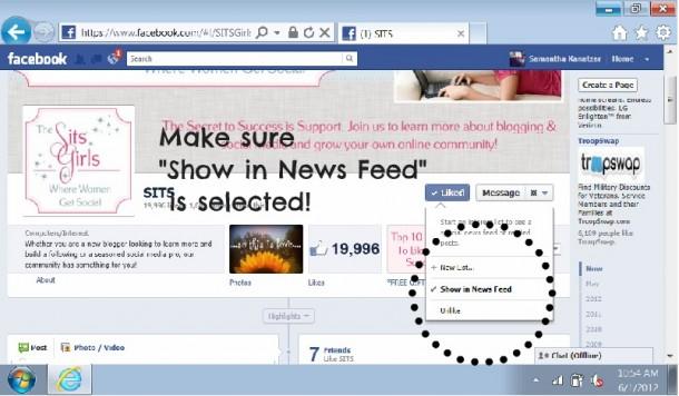 how to create scrollbar like facebook
