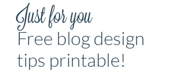 Free Blog Design Printable