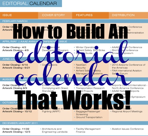 Editorial Calendar: Download A Free Template For Your Blog