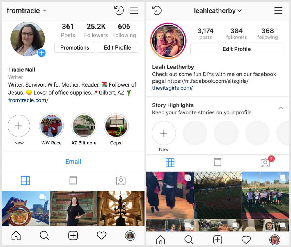 Instagram Profile Screenshot - Android and iOS