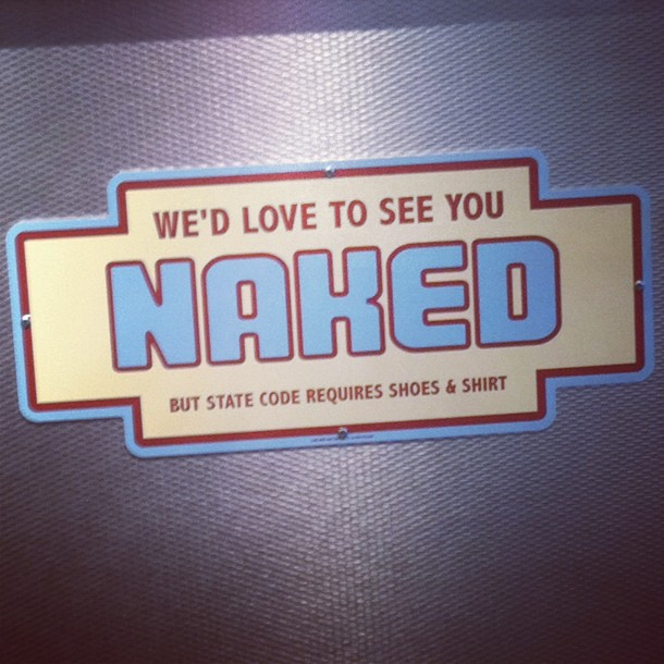 we'd love to see you naked
