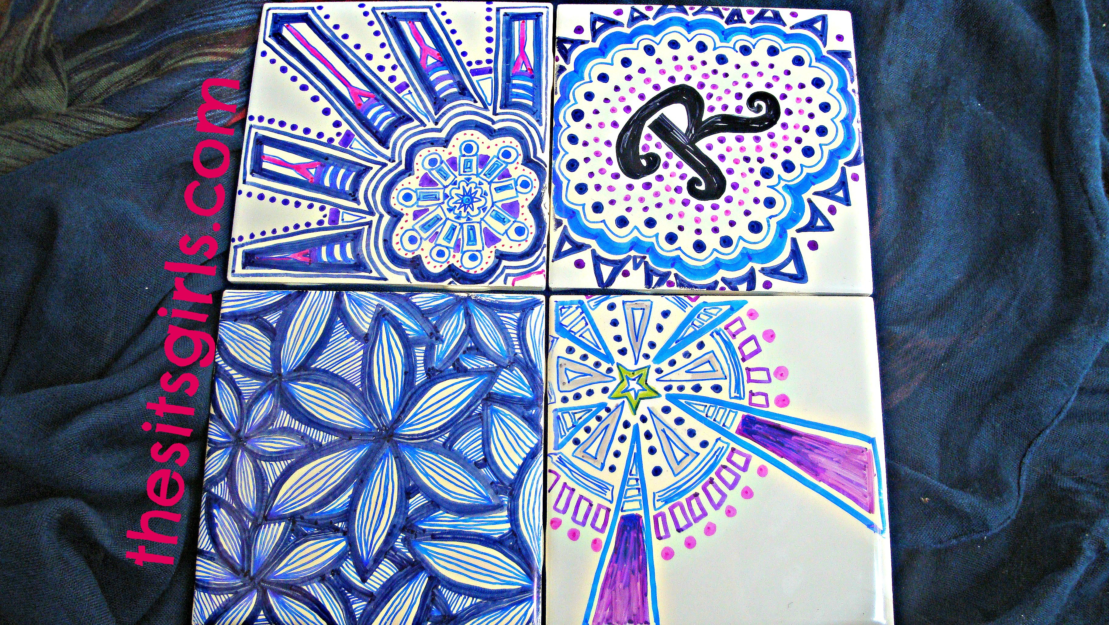 Diy Tiles Painting Tiles With Sharpies
