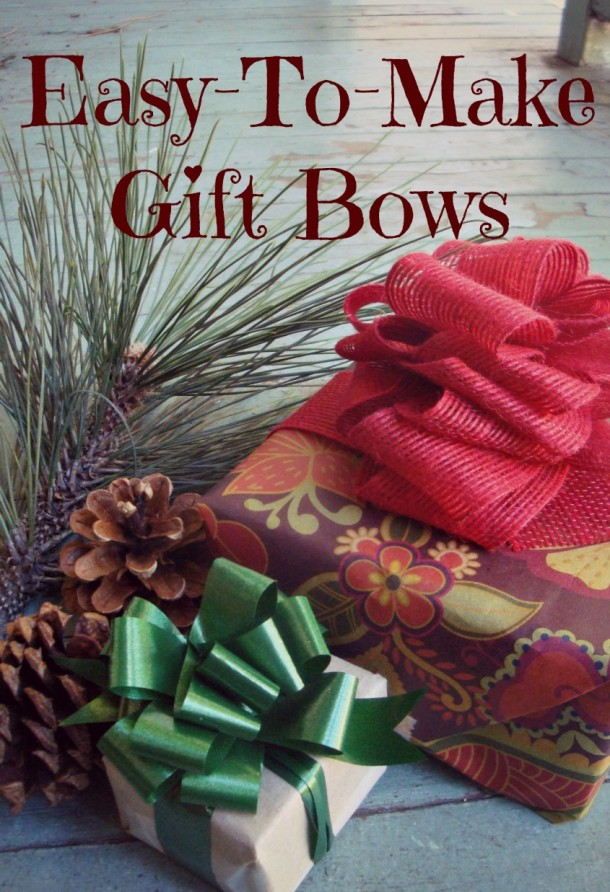 Easy craft bows in only three steps handmade christmas gifts for Easy crafts for christmas presents