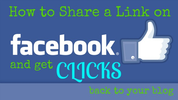 share a link on facebook