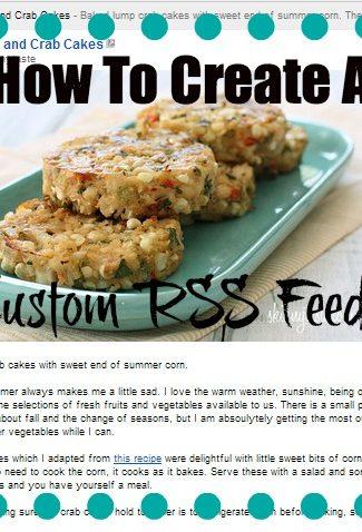 custom rss feed