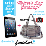 iPad Mini & Camera Bag Giveaway for You AND Your Mom from Familiar