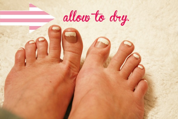 French manicure how to complete with pedicure pics french manicure how to solutioingenieria Gallery