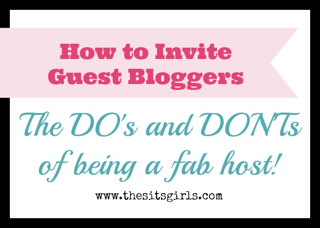 how to invite guest bloggers
