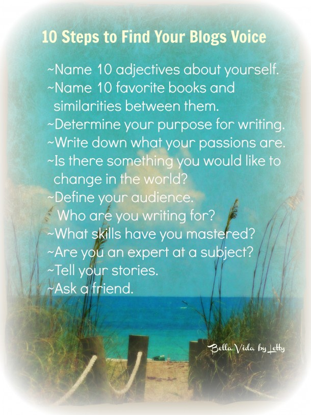 Learn how to find your blog's voice and your writing style with these ten tips.