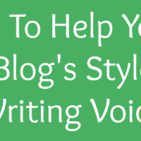 Find your blog's voice and your writing style
