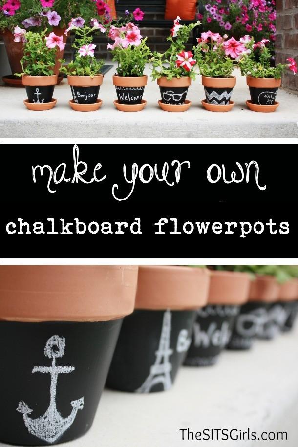 Make Your Own Chalkboard Flowerpots