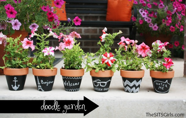 chalkboard paint flowerpot ideas