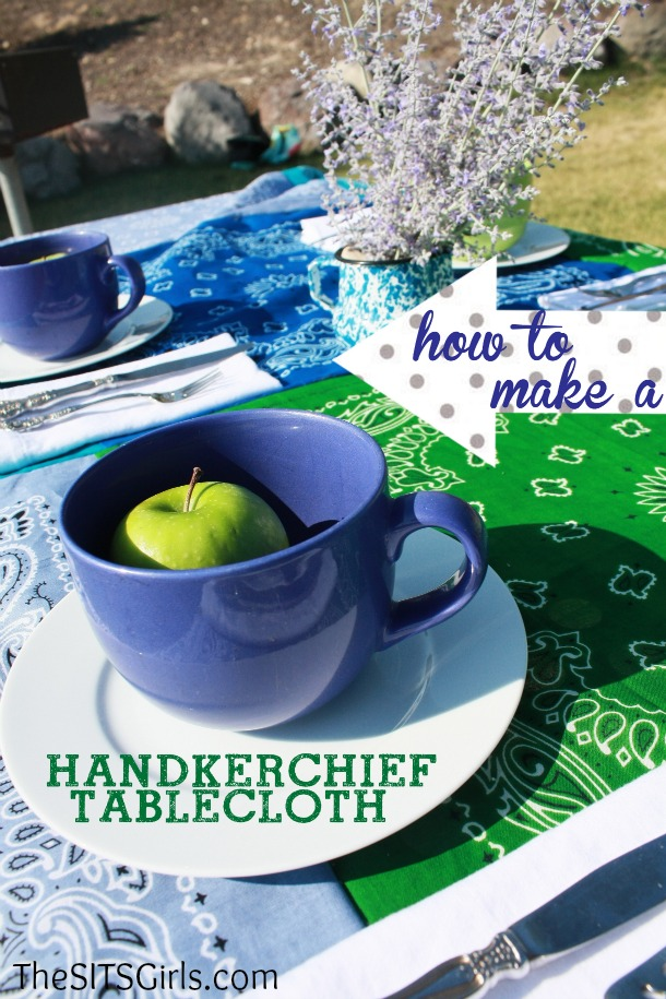 how to make a DIY tablecloth