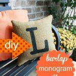 DIY Home Decor: How to Make a Burlap Pillow