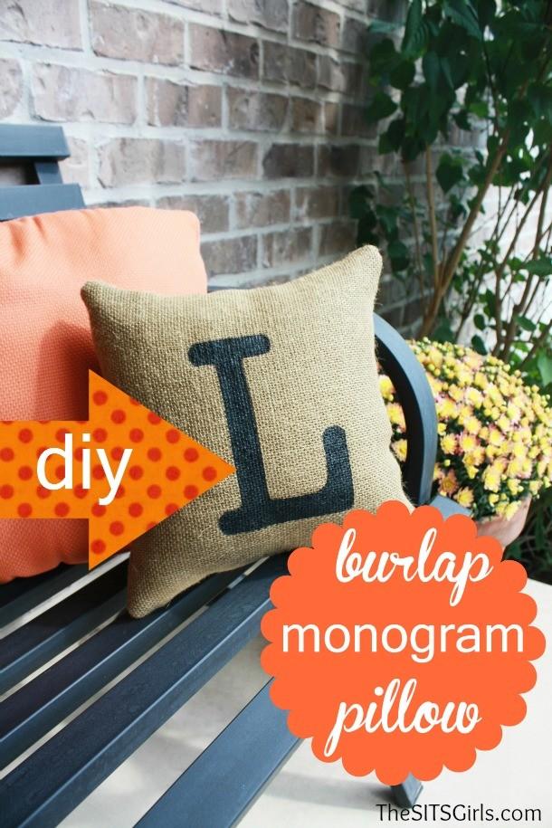 DIY Burlap Pillow