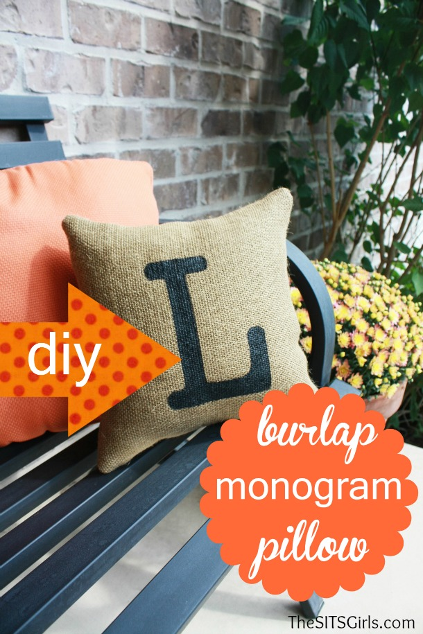DIY Burlap Pillow