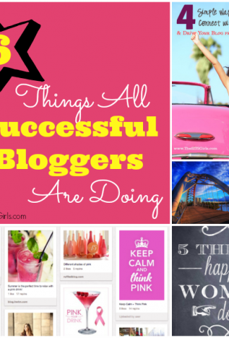 how to be successful at blogging